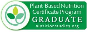 Nutritionstudies.org Plant-based Nutrition Certificate Graduate Badge